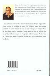Une Eternite De Chagrin - 4ème de couverture - Format classique