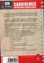 Ue Ecn En Fiches Cardiologie - 4ème de couverture - Format classique