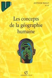 Les Concepts De La Geographie Humaine - Intérieur - Format classique