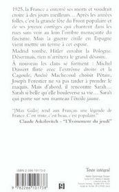 Sarah t.3 - 4ème de couverture - Format classique