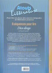 6 séquences pour lire ; dico dingo ; cycle 3, niveau 1 - 4ème de couverture - Format classique