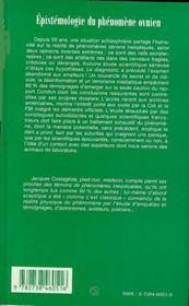 Epistemologie Du Phenomene Ovnien Ou Cinquante Ans De Deni Scientifique - 4ème de couverture - Format classique