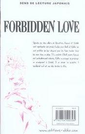 Forbidden Love T.14 - 4ème de couverture - Format classique