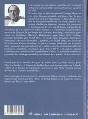 Anthologie De La Poesie Suedoise ; Des Steles Runiques A Nos Jours - 4ème de couverture - Format classique