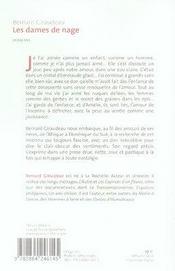 Les Dames De Nage - 4ème de couverture - Format classique