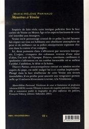 Meurtres à venise - 4ème de couverture - Format classique