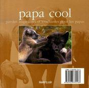 Papa cool - 4ème de couverture - Format classique