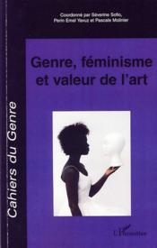 Genre, féminisme et valeur de l'art - Couverture - Format classique