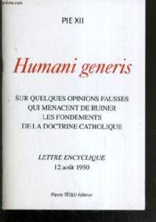 Quelques opinions fausses qui menacent de ruiner les fondements de la doctrine catholique - humani g - Couverture - Format classique