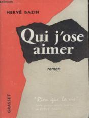 Qui Jose Aimer. - Couverture - Format classique