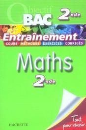 Objectif Bac ; Maths ; 2nde ; Entraînement - Intérieur - Format classique