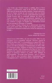 Propos D'Un Opposant Obstine Au Liberalisme Mondial, 1990-2000. Prefa Ce De Christian Sautter - 4ème de couverture - Format classique
