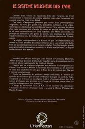 Systeme Religieux Des Evhe - 4ème de couverture - Format classique