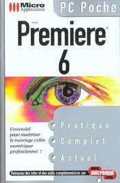 Pc Poche Adobe Premiere 6 - Intérieur - Format classique