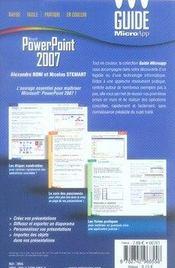 Powerpoint 2007 - 4ème de couverture - Format classique