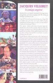 Jacques villeret le comique angoisse - 4ème de couverture - Format classique