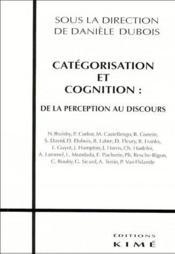 Categorisation Et Cognition - Couverture - Format classique