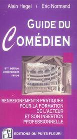 Guide du comédien (9e edition) - Intérieur - Format classique
