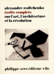 Ecrits art architecture - Couverture - Format classique