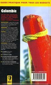 Colombie (la) - 4ème de couverture - Format classique