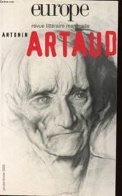 Revue Europe N.874 ; Antonin Artaud - Couverture - Format classique