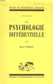 La Psychologie Differentielle, Livre I - Couverture - Format classique