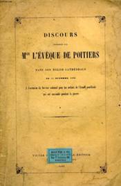 Discours Prononce Par L'Eveque De Poitiers Dans Son Eglise Cathedrale, Le 11 Oct. 1860 - Couverture - Format classique