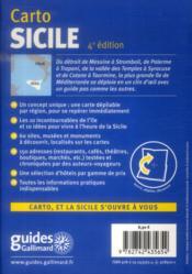 Sicile - 4ème de couverture - Format classique