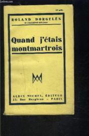 Quand J Etais Montmartois - Couverture - Format classique