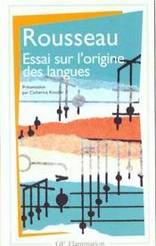Essai sur l'origine des langues - Intérieur - Format classique
