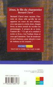 Jésus, le fils du charpentier - 4ème de couverture - Format classique