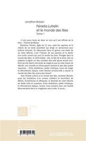 Fenella lufrelin et le monde des fees - 4ème de couverture - Format classique