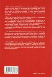 Karma Et Les Vies Karmiques : Guide Pratique (Le) - 4ème de couverture - Format classique