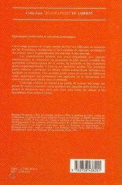 Dynamiques Territoriales Et Mutations Economiques - 4ème de couverture - Format classique