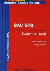 BAC STG ; économie-droit - Intérieur - Format classique