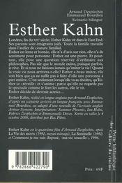 Esther Kahn - 4ème de couverture - Format classique