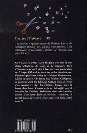 Les mosquitos t.2 ; mystère à l'abbaye - 4ème de couverture - Format classique
