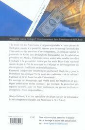 Prosperite contre ecologie ... l'environnement dans l'amerique de g.w. bush - 4ème de couverture - Format classique