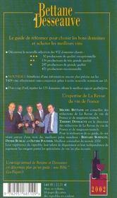 Bettane Et Desseauve ; Le Classement Des Meilleurs Vins ; Edition 2002 - 4ème de couverture - Format classique