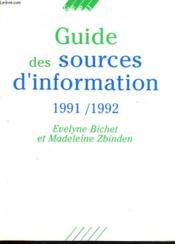 Guide Des Sources D'Information - Couverture - Format classique