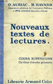 Nouveaux Textes De Lectures, Cours Superieurs, Cep - Couverture - Format classique