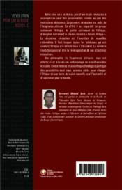 Révolution pour une Afrique nouvelle ; 151 pyramides pour fonder les Etats Unis d'Afrique ; poèmes philosophiques - 4ème de couverture - Format classique