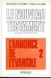Nouveau Testament T Ii - Couverture - Format classique
