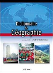 Dictionnaire De Geographie - Intérieur - Format classique