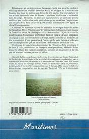 Modes D'Appropriation D'Un Rivage ; La Baie Du Mont-Saint-Michel - 4ème de couverture - Format classique