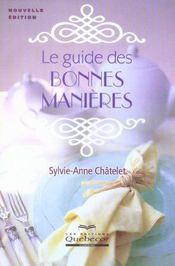 Le Guide Des Bonnes Manieres - Intérieur - Format classique