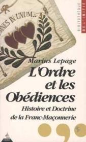 Ordre et les obediences (l') - Couverture - Format classique