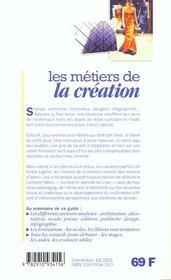 (pilon)metiers de la creation (les) - 4ème de couverture - Format classique