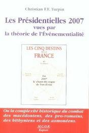 Les présidentielles 2007 vues par la théorie de l'événementialité - Intérieur - Format classique