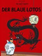 Tim und Struppi t.4 ; der blaue lotos - Couverture - Format classique